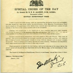 Special Orders concerning the conduct of forces in 'peace time'