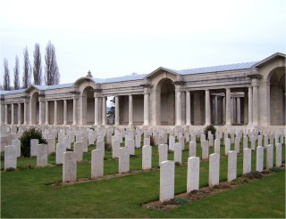 J W Bullock is listed in Bay 5 of the Arras Memorial