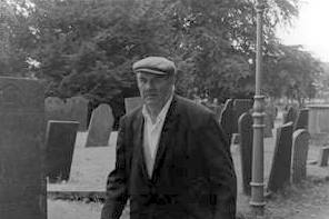 Arthur Marston attending our wedding, August 1974