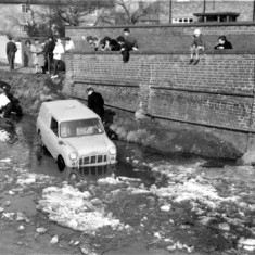 March 1963. Were you one of these onlookers or an unfortunate driver?