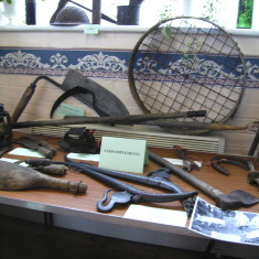The display of farm tools