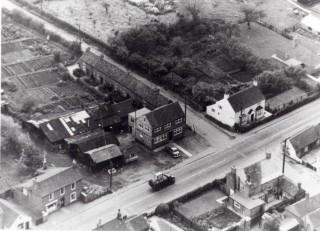 Aerial view of Barkestone Lane cottages
