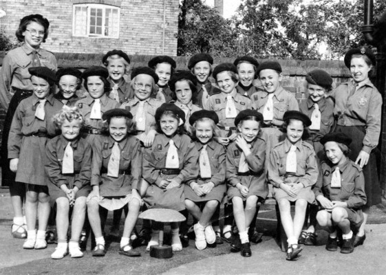 Bottesford Brownies troop, c.1955 | From the collection of Jill Bagnall