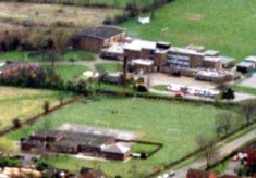 Aerial picture showing Belvoir High School (rear) and Bottesford Primary School (foreground)