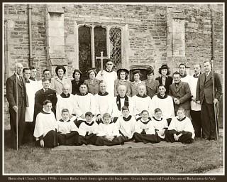 Bottesford choir, 1946: John Thomas Ravell, churchwarden, standing at left.
