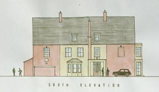 The southern (front) elevation of the Rectory during the 1950s.
