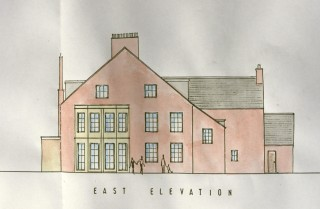 The eastern elevation of the Rectory during the 1950s.