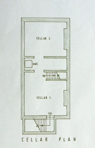 The plan of the cellars of the Rectory during the 1950s.