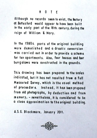Bottesford Rectory - as it was!