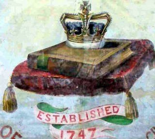 Bottesford Friendly Society banner, detail showing the date of the founding of the society