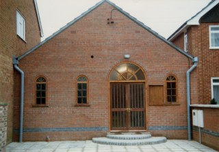 The new extension and entrance.