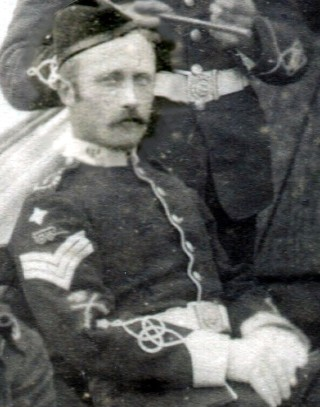 Richard Kettleborrow 1890 in the uniform of the Belvoir Volunteers