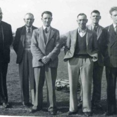 Football Club Committee Members 1950's - L-R: Harry Lane, William Sutton, Charlie Cramm, Amos Tinkler, Alec Bagnall, Jim Glover