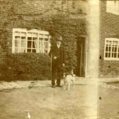 Wiliam Sutton outside his grandfather  house (John Sutton's) at the site of what is now 13 High Street  - where a bungalow now stands.