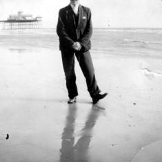 Joe (dad) on honeymoon at Skegness (1932)