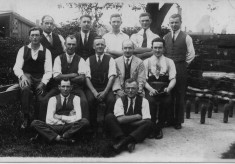 The Bottesford skittles team, c.1930