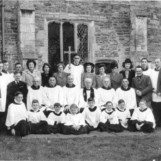 Church choir - Jeff front row 1st from lh,George front row 3rd from rh,Joe (dad) middle row 2nd from lh (leaning)