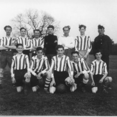 Bottesford football - George front row 1st lh,Jeff back row 2nd rh