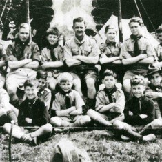 Scout Jamboree at Belvoir Castle Jeff (LH back row) George (RH front row)