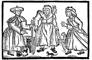 The Bottesford Witches, Margaret, Joan and Phillipa Flower and their familiars, including Rutterkin the cat.