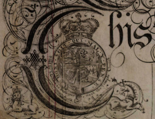 Dyers Cottage indenture, 1762 - detail.