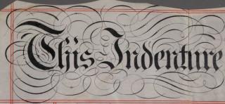 Dyers Cottage indensture, 1885 - detail of title