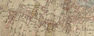 High Street Bottesford 1884 OS Map