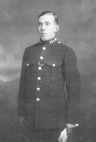 P. C. Arthur Bradshaw, 1929, taken in Grantham