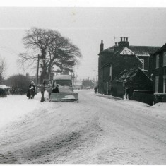 First snow plough to arrive after the 1979 snows when Bottesford was cut-off for two days in the second week of February