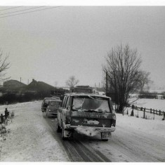 Opening of Nottingham Road after the 2 day 1979 snow closure