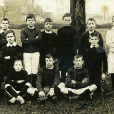 Taken around 1906/8 we see the generation of boys who were to serve in WW1. Football still thrives in Bottesford. Bob Sutton (standing 4th from the left on the back row) and Bill Sutton (sitting on the right hand end of the front row)