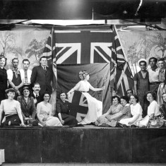 Tableau at the end of the Variety Concert, Bottesford 1951