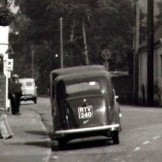 The start of a parking problem by the Cross, c. 1960?