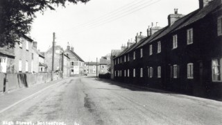 Butcher's Row, looking east towards the Rutland Arms and Acacia House.