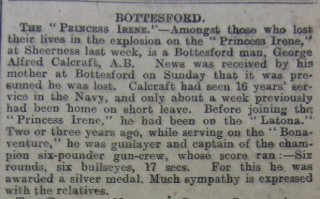 Courtesy of the Grantham Journal 5/6/1915
