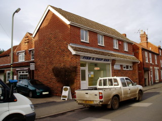 Maneline Hairdresser,  Fish and Chip Bar  and the Flats at No 5 in 2006