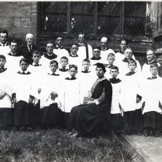 Bill Sutton (3rd man left)  in the St Mary's  Church Choir - mid 1920s