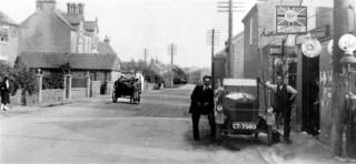 Christmas and Chorlton's Garage c.1928.