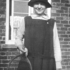 Clarice Bray photographed near the kitchen window of the Bray's house in Muston.