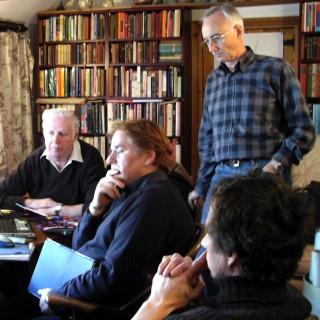 Site management training session, March 2007. From L clockwise - Bob Sparham, Jerry Weber (MLA East Midlands), Norman Robinson, Jack Latimer (Community Sites).
