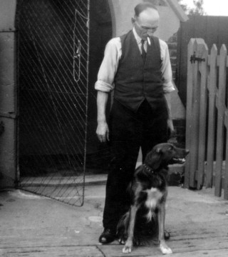 Grandad Frederick Sellers at the Level Crossing Gatehouse, Bottesford Station. date unknown.