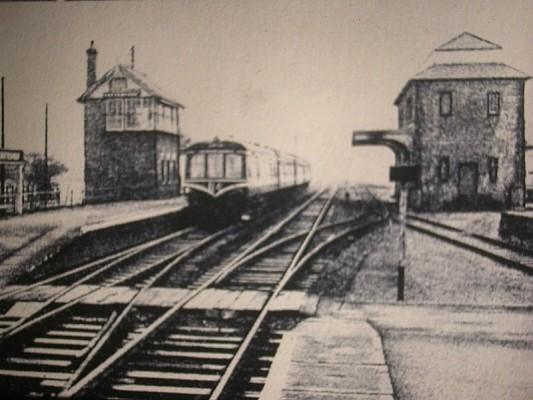 A diesel car at Bottesford Station