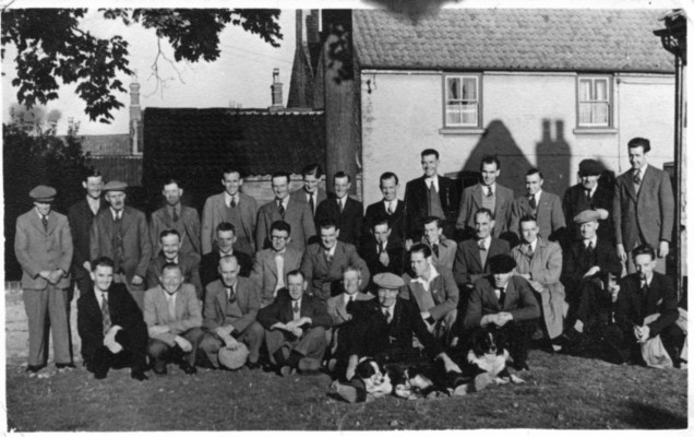 Group photograph in the Red Lion Garden