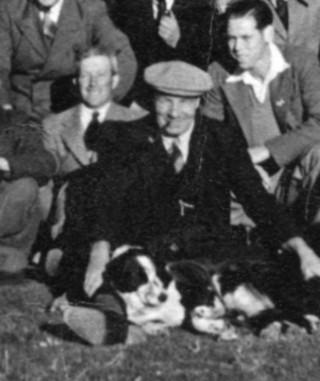 Arthur Marston in the Red Lion Garden - 1948
