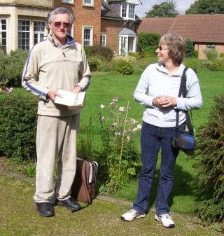 Don and Pauline Roach during their visit to Bottesford in 2008