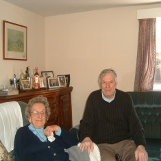 Tha late Bob Donger and his wife Mary, at home in Easthorpe.