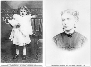 Dorothy Ann Spencer c.1900, and her mother Frances, nee Cooper, c.1895.