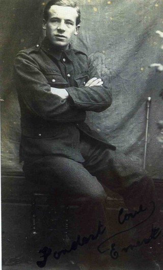 Driver Ernest Henry Jallands DCM. Mr George Waudby, Mr Jallands' son-in-law kindly added this postscript.