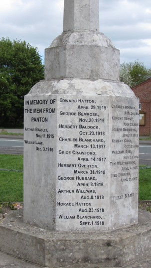 Recent additions to the East and West Barkwith War Memorial