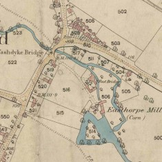 Map of Easthorpe Mill, Bottesford